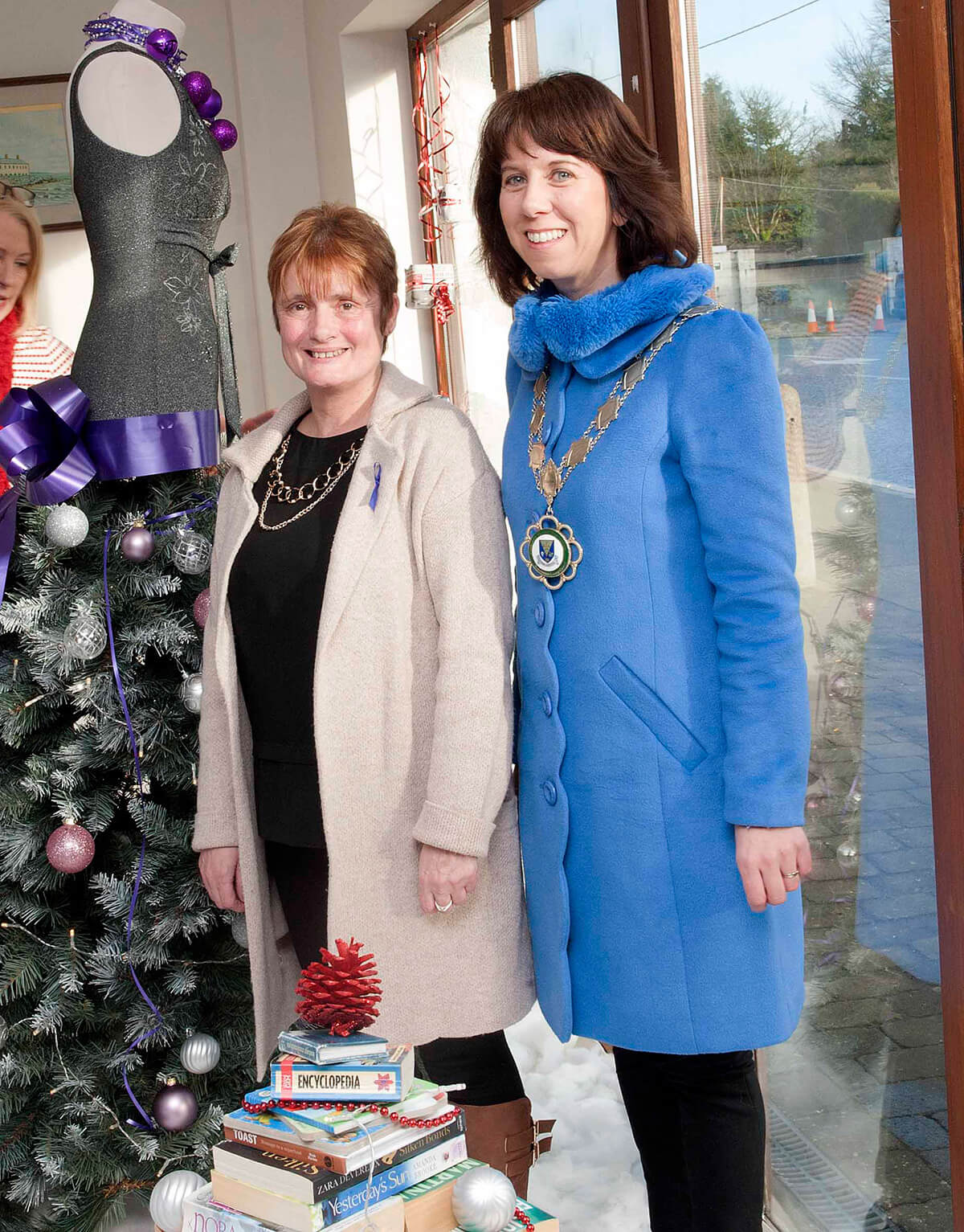 Karen Joyce, RWN Charity Shop Supervisor with Cllr Orla Leyden Caithlaoireach of County Roscommon who officially opened the refurbished shop