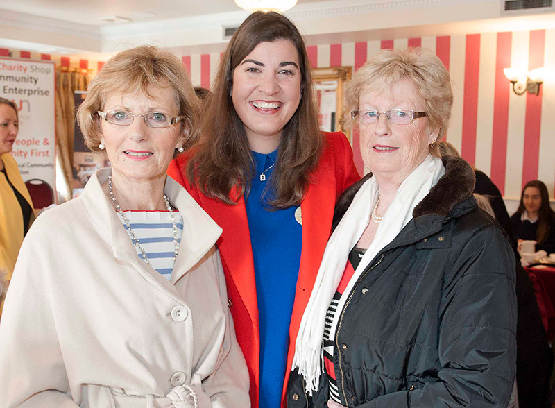 Pictured at RWN Chat Show in Gleeson's to mark International Women's Day were Lily Murphy, Senator Maura Hopkins and Mary Flanagan. Picture: Andrew Fox