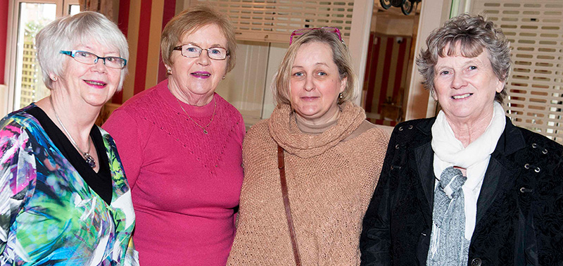 Pictured at RWN Chat Show in Gleeson's to mark International Women's Day were Eileen Duignan Lillian McDonald, Marie Gorman and Marian Nolan. Picture: Andrew Fox