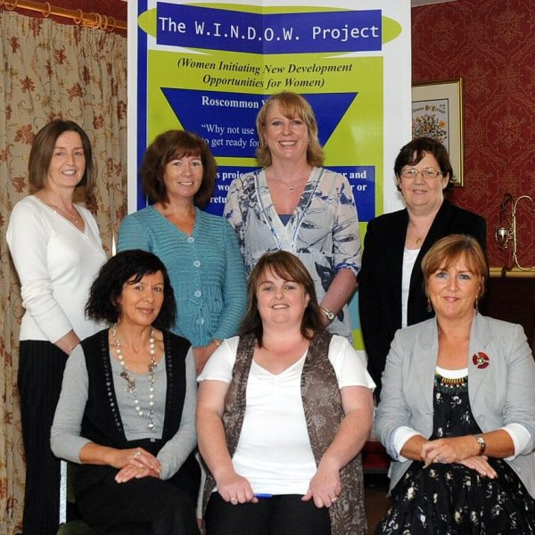 Pictured at a meeting for Roscommon Women's Network, W.I.N.D.O.W Project Steering Committee are left to right Back: Bernie Morris, Anne Holt, Nora Fahy, Martina Mulligan, Front: Mary Cuddy, Maria Harris (W.I.N.D.O.W. Project Coordinator), Bernie Downs. Picture: Gerard O' Loughlin